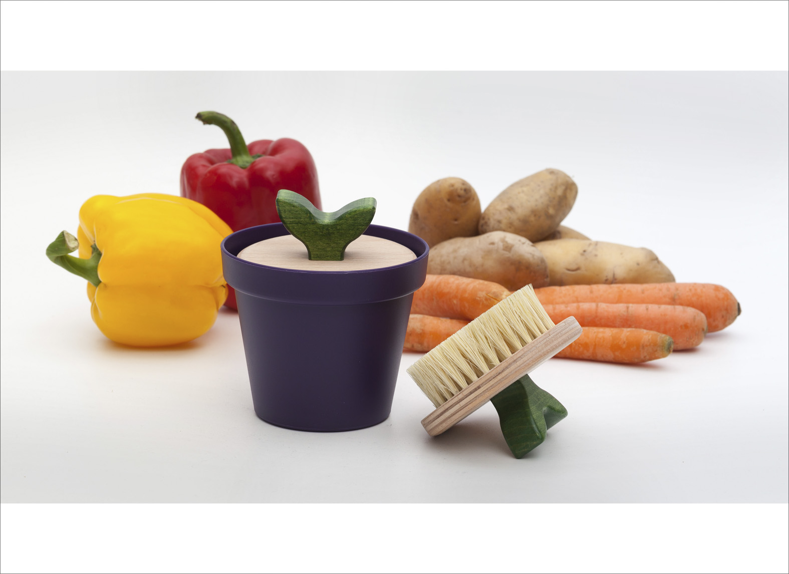 vegetable brush brush.up in purple